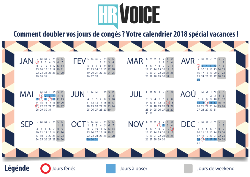 Calendrier vacances 2018